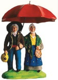 Couple sous le Parapluie (Couple with Umbrella)