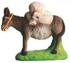 Ane Charge de sacs de farine (Donkey with Flour Sacks)